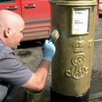Royal Mail Awards Golden Post Boxes for Olympic Gold Medalists