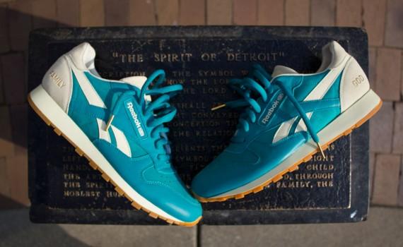 Reebok Classic Burn Rubber Sneakers Leather Spirit of Detroit