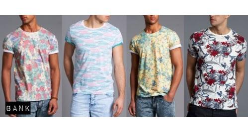 BANK Men's summer 2013 printed tshirts