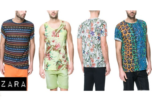 ZARA Men's summer 2013 printed tshirts