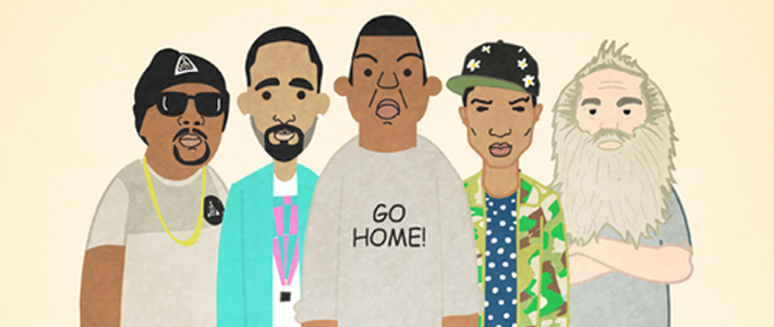 Ali Graham has ilustrated Jay Z's 99 Problems