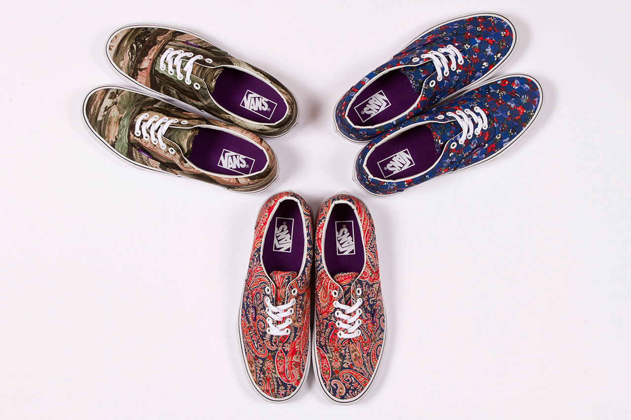 Liberty London 2013 printed Vans sneakers pack