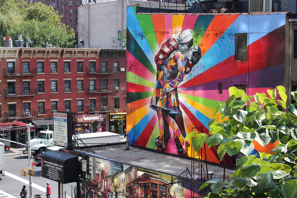 new york, The Highline Steet art, art