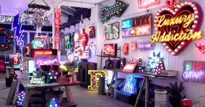 Chris Bracey, Soho, neon, art, lights