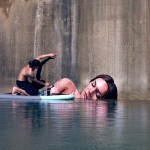 Artist Sean Yoro Paints Stunning Seaside Murals While Balancing on His Paddle Board