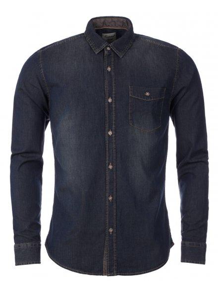 Denim Dark Wash Long Sleeve Shirt £19.99