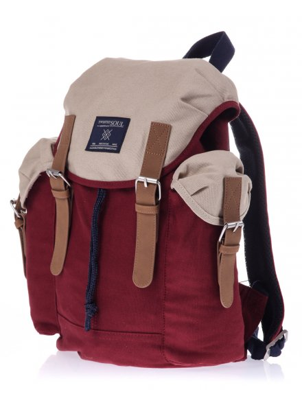 Red Contrast Canvas Pin Buckle Backpack £25.00