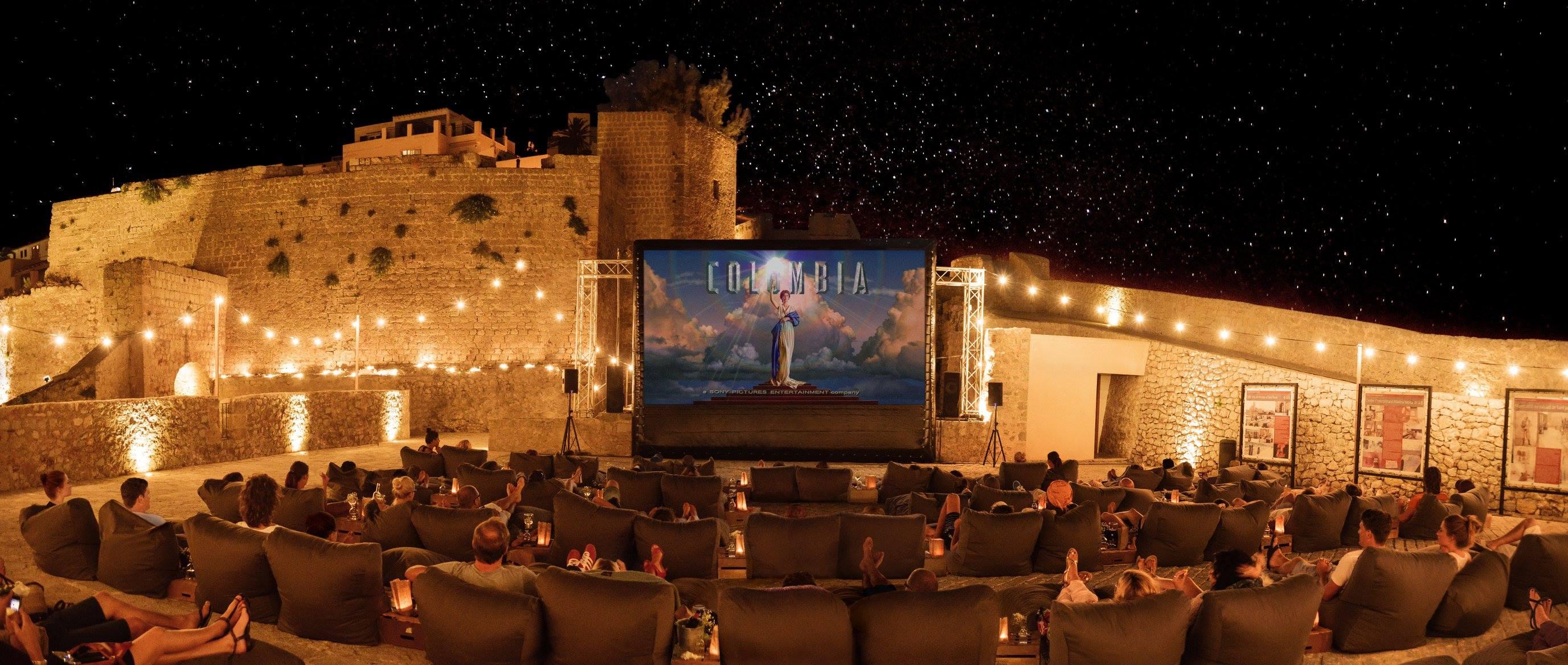 watch a movie under the night sky at cinema paradiso ibiza