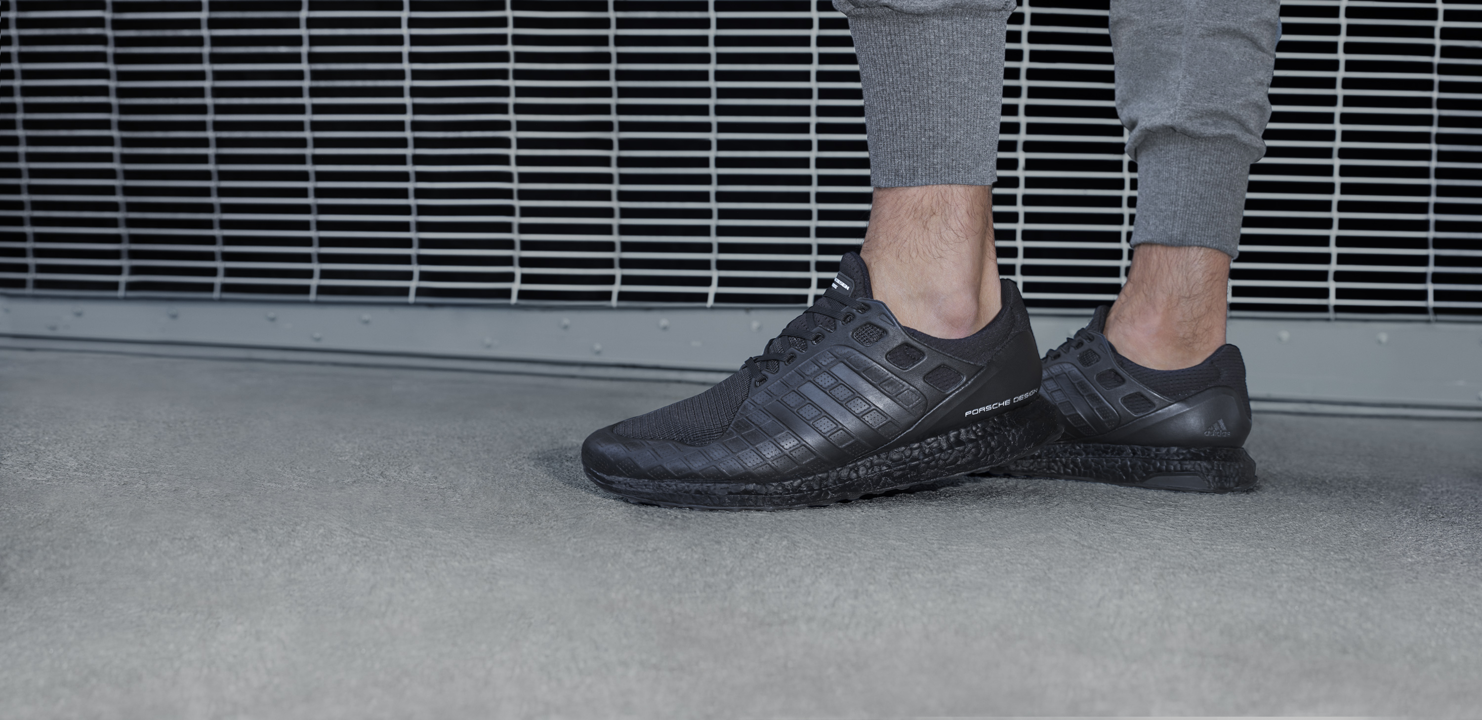 Adidas, ultraboost, all back, black, porsche design