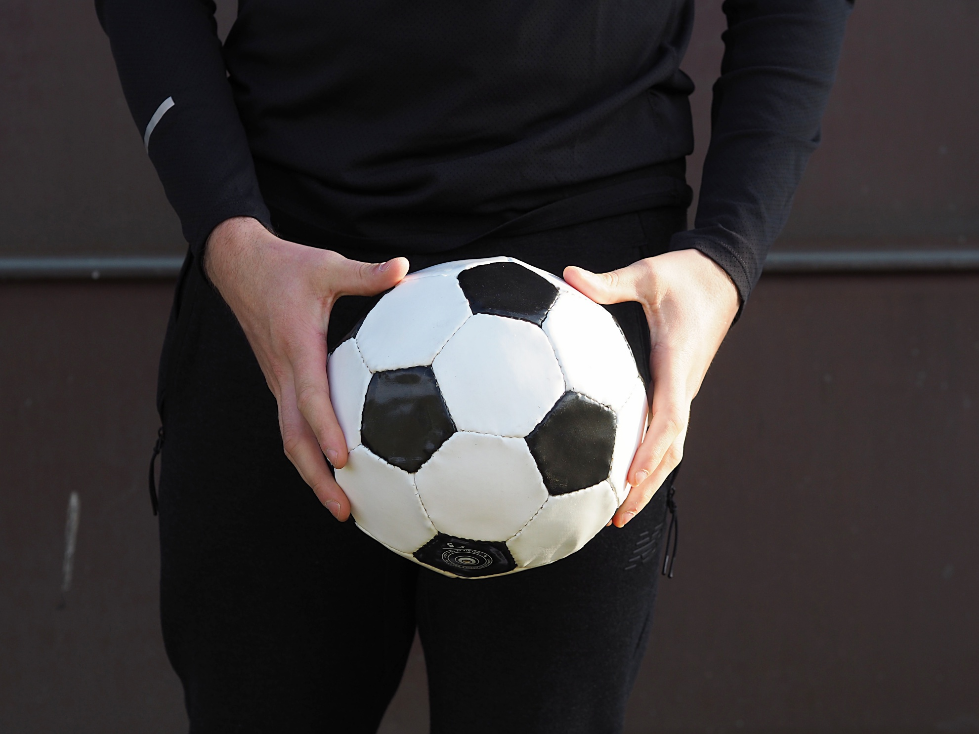 man with football
