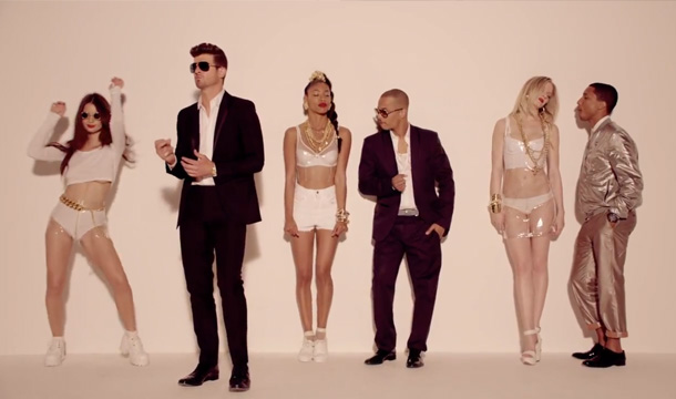 Robin Thicke, Blurred Lines, Video, Youtube, Pharrell, T.I., naked, boobs