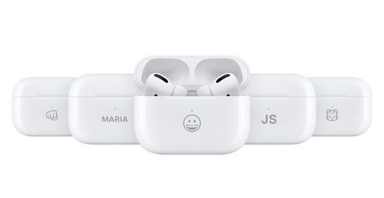 Apple AirPod engraved emoji