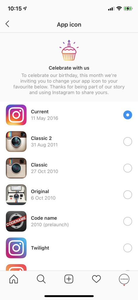 instagram birthday icons